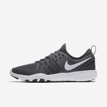 336RYQSE Womens Dark Grey/White Nike Free TR7 Training Shoes