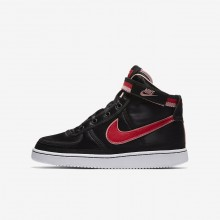 343TAJLQ Girls Black/Bleached Coral/White/Speed Red Nike Vandal High Supreme QS Lifestyle Shoes