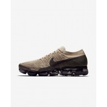 349KTYLQ Mens Khaki/Anthracite/Pale Grey/Black Nike Air VaporMax Flyknit Running Shoes