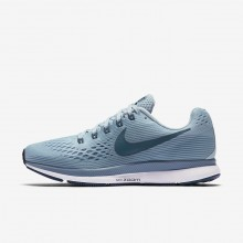 351QBSMU Womens Ocean Bliss/Noise Aqua/Black/Blue Force Nike Air Zoom Pegasus 34 Running Shoes