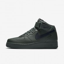 354AKCSP Mens Grove Green/Black Nike Air Force 1 Mid 07 Lifestyle Shoes