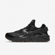 362UPLRM Mens Black/Gum Medium Brown/Elemental Gold Nike Air Huarache Lifestyle Shoes