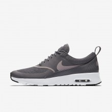 365OTXRA Womens Gunsmoke/Black/Particle Rose Nike Air Max Thea Lifestyle Shoes