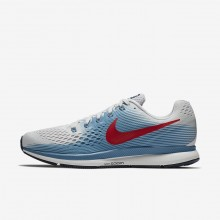 369EZQCP Mens Vast Grey/Aegean Storm/Thunder Blue/University Red Nike Air Zoom Pegasus 34 Running Shoes