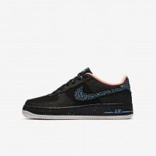373IHWPV Boys Black/Crimson Pulse/Summit White/Lagoon Pulse Nike Air Force 1 Pinnacle QS Lifestyle Shoes