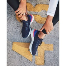 376HMTPR Womens College Navy/Racer Blue/Pink Blast Nike Epic React Flyknit Running Shoes