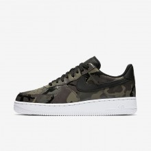 396NZTUO Mens Medium Olive/Baroque Brown/Sequoia/Black Nike Air Force 1 07 Low Lifestyle Shoes