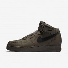 397WKPIL Mens Ridgerock/Black Nike Air Force 1 Mid 07 Lifestyle Shoes