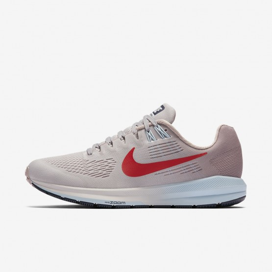 403XESVU Chaussure Running Nike Air Zoom Structure 21 Femme Grise/Rose/Rouge