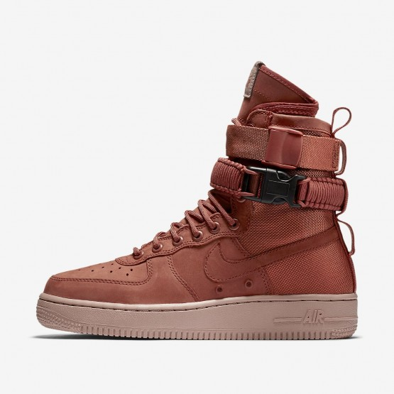 417EVPIC Womens Dusty Peach/Particle Pink Nike SF Air Force 1 Lifestyle Shoes