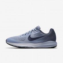 430MYDXN Womens Armory Blue/Cirrus Blue/Cerulean/Armory Navy Nike Air Zoom Structure 21 Running Shoes