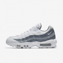 436JTYDP Mens White/Cool Grey/Wolf Grey Nike Air Max 95 Essential Lifestyle Shoes