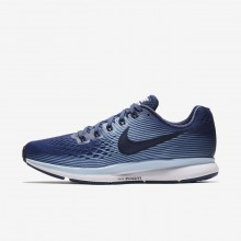 441YOAMH Womens Blue Recall/Royal Tint/Black/Obsidian Nike Air Zoom Pegasus 34 Running Shoes