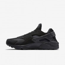 443PCGBM Mens Black/Grey Nike Air Huarache Lifestyle Shoes