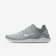 455MOAJS Mens Wolf Grey/White/Volt Nike Free RN 2018 Running Shoes