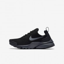462GEWAS Boys Black/Anthracite Nike Presto Fly Lifestyle Shoes