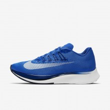 464QWEYF Womens Hyper Royal/Deep Royal Blue/Black/White Nike Zoom Fly Running Shoes