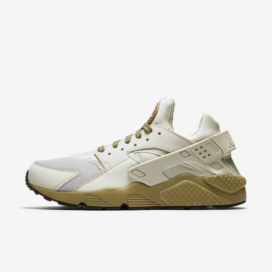 467UBCHD Mens Light Bone/Neutral Olive/Black Nike Air Huarache Lifestyle Shoes