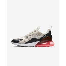 472IPCDS Mens Black/Hot Punch/White/Light Bone Nike Air Max 270 Lifestyle Shoes