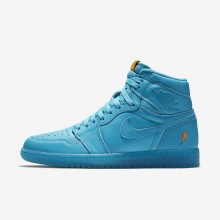 476XMDNY Mens Blue Lagoon Air Jordan 1 Retro High OG Lifestyle Shoes