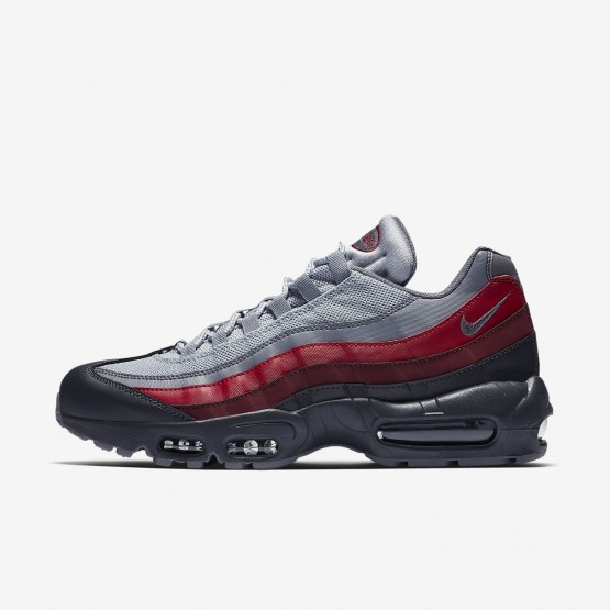 483USHZT Mens Anthracite/Wolf Grey/Team Red/Cool Grey Nike Air Max 95 Essential Lifestyle Shoes
