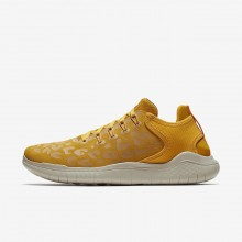 502OASEF Womens Yellow Ochre/University Gold/Oil Grey Nike Free RN 2018 Wild Running Shoes