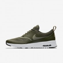 505UOEQK Womens Cargo Khaki/Black/Dark Stucco Nike Air Max Thea Lifestyle Shoes