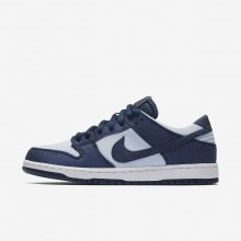 534OWTZM Mens Binary Blue/Hydrogen Blue/Dark Team Red Nike SB Dunk Low Pro Skateboarding Shoes