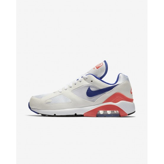 535DNSXF Mens White/Solar Red/Ultramarine Nike Air Max 180 Lifestyle Shoes