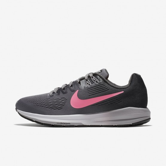 537CJIQO Womens Gunsmoke/Anthracite/Atmosphere Grey/Sunset Pulse Nike Air Zoom Structure 21 Running Shoes