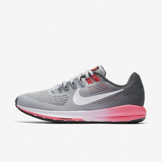542RFSME Womens Dark Grey/Wolf Grey/Hot Punch/White Nike Air Zoom Structure 21 Running Shoes