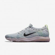 548VNQWZ Womens Pure Platinum/Barely Rose/Elemental Rose/Anthracite Nike Air Zoom Fearless Flyknit Lux Training Shoes