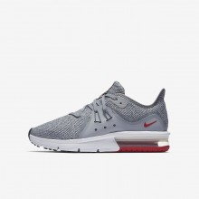 549EOSLM Boys Wolf Grey/Anthracite/Pure Platinum Nike Air Max Sequent 3 Running Shoes