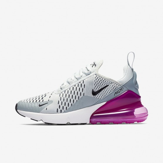 557UKDJH Womens Barely Grey/Light Pumice/Fuchsia Blast/Black Nike Air Max 270 Lifestyle Shoes