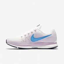 559JXATK Womens Summit White/Elemental Rose/Thunder Blue/Equator Blue Nike Air Zoom Pegasus 34 Running Shoes