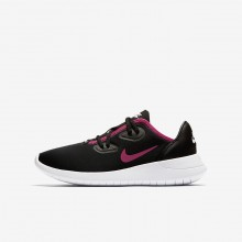 562RHOFY Girls Black/White/Rush Pink Nike Hakata Lifestyle Shoes