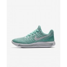 573CVAQE Womens Hyper Turquoise/Igloo/Clear Jade/Pure Platinum Nike LunarEpic Low Flyknit 2 Running Shoes