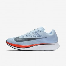 573NVHEB Mens Ice Blue/Bright Crimson/University Red/Blue Fox Nike Zoom Fly Running Shoes