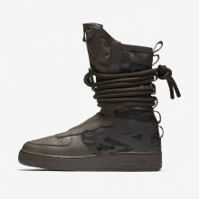 574KNXLR Mens Ridgerock/Sequoia/Black Nike SF Air Force 1 Hi Lifestyle Shoes