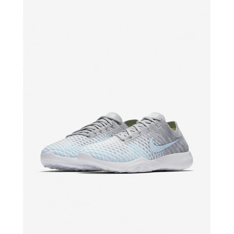 99bdfa3a5cc7 ... 574SFAOI Womens Wolf Grey White Glacier Ice Nike Free TR Flyknit 2  Training Shoes
