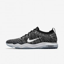 589GXEUH Womens Black/Cool Grey/White Nike Air Zoom Fearless Flyknit Lux Training Shoes