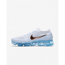 591ESIJL Womens Summit White/Hydrogen Blue/Pure Platinum/Metallic Red Bronze Nike Air VaporMax Flyknit Explorer Running Shoes