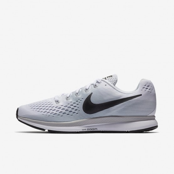 597DBGUK Mens White/Pure Platinum/Wolf Grey/Anthracite Nike Air Zoom Pegasus 34 Running Shoes