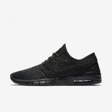 600TRKIW Mens Black/Anthracite Nike SB Stefan Janoski Max Skateboarding Shoes