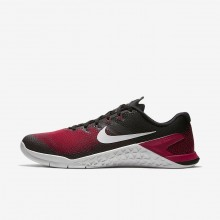 603EUVRO Mens Black/Hyper Crimson/Habanero Red/Vast Grey Nike Metcon 4 Training Shoes
