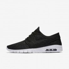 609OIMKU Mens Black/White Nike SB Stefan Janoski Max Skateboarding Shoes