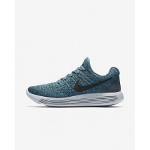613JNYZS Womens Iced Jade/Dark Atomic Teal/Blustery/Black Nike LunarEpic Low Flyknit 2 Running Shoes