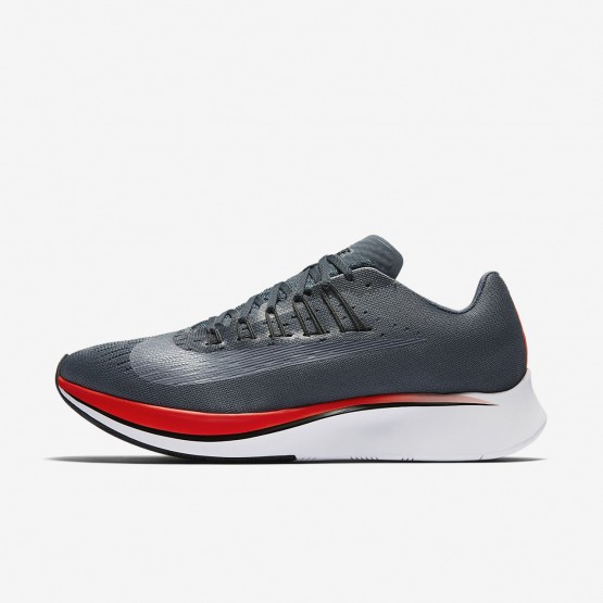614WHKGZ Mens Blue Fox/Bright Crimson/University Red/Black Nike Zoom Fly Running Shoes