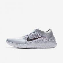 617QVHSU Mens Pure Platinum/White/Wolf Grey/Black Nike Free RN Flyknit 2018 Running Shoes
