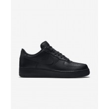619NPUQO Mens Black Nike Air Force 1 07 Lifestyle Shoes